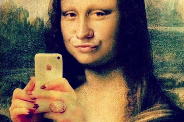 The Mona Lisa gets the duck face treatment