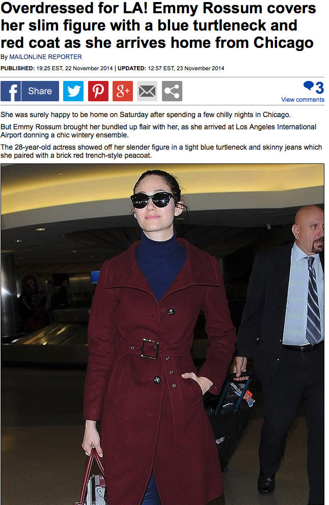 Emmy Rossum on The Daily Mail