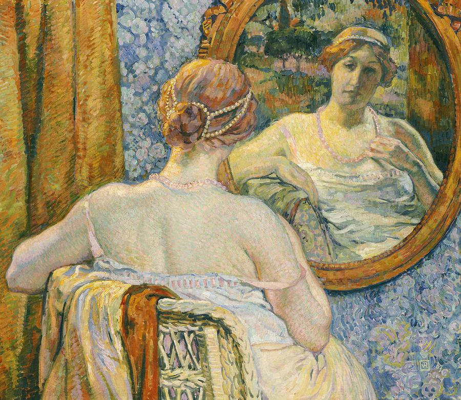 woman-in-a-mirror-theo-van-rysselberghe